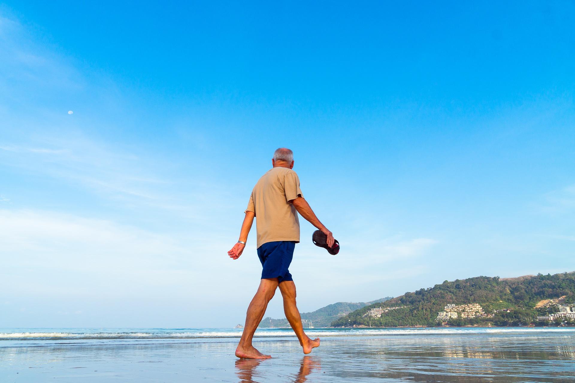 Alter Mann Strand
